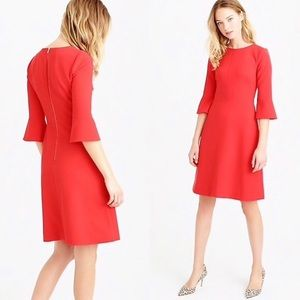 J. Crew Bell-Sleeve Crepe Suiting Dress, Sz 4